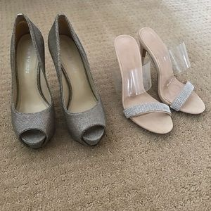 Lot of 2 glamorous heels for the holidays. Sz. 6.5